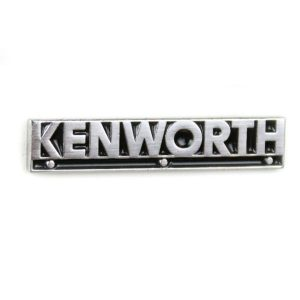 Kenworth trucking hat lapel pin chrome
