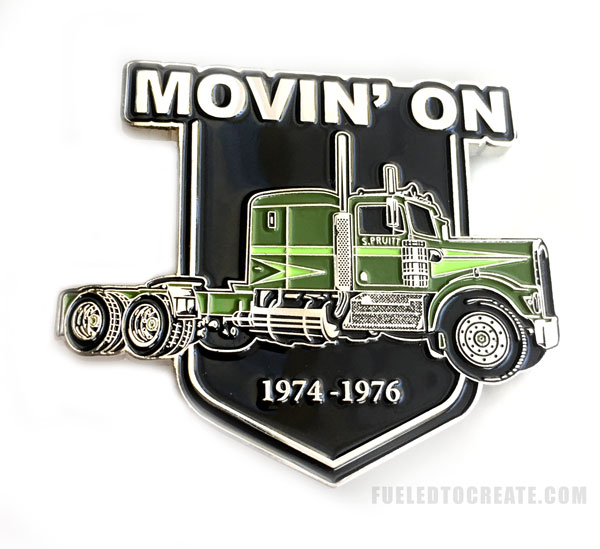Movin on official collectors pin