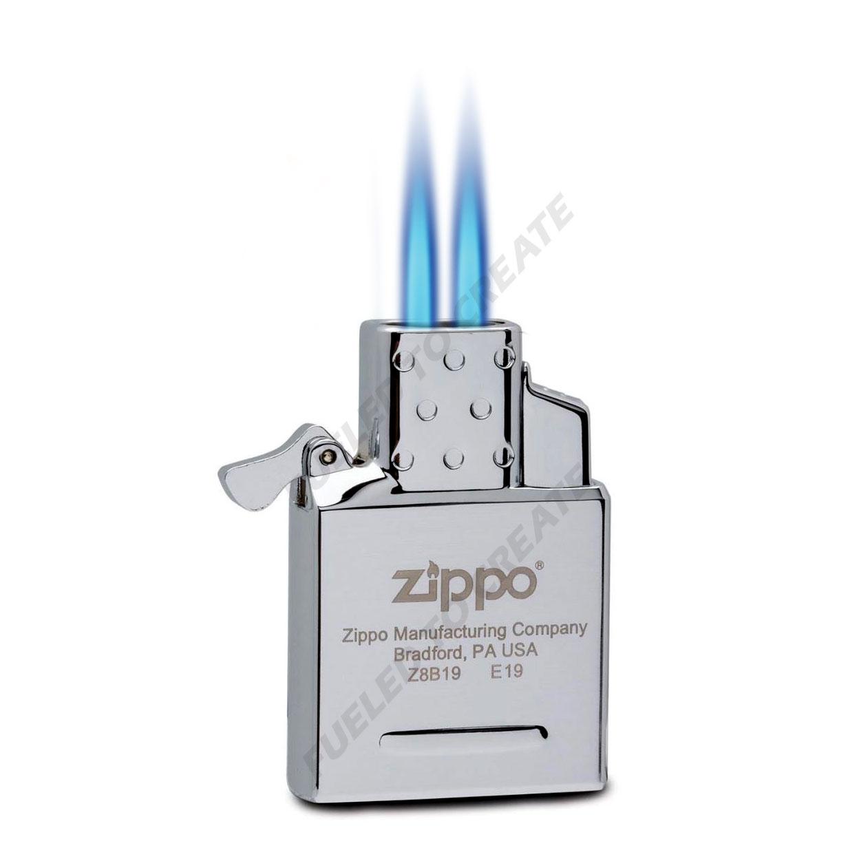 zippo dual torch two insert butane thunderbird kgm